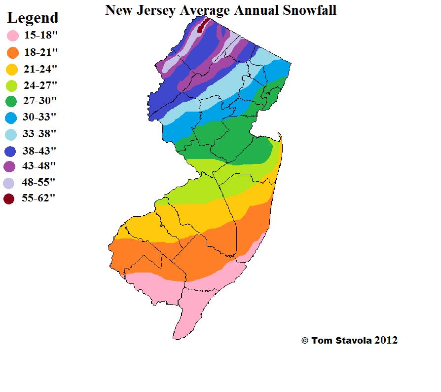 NJ Avg Snow