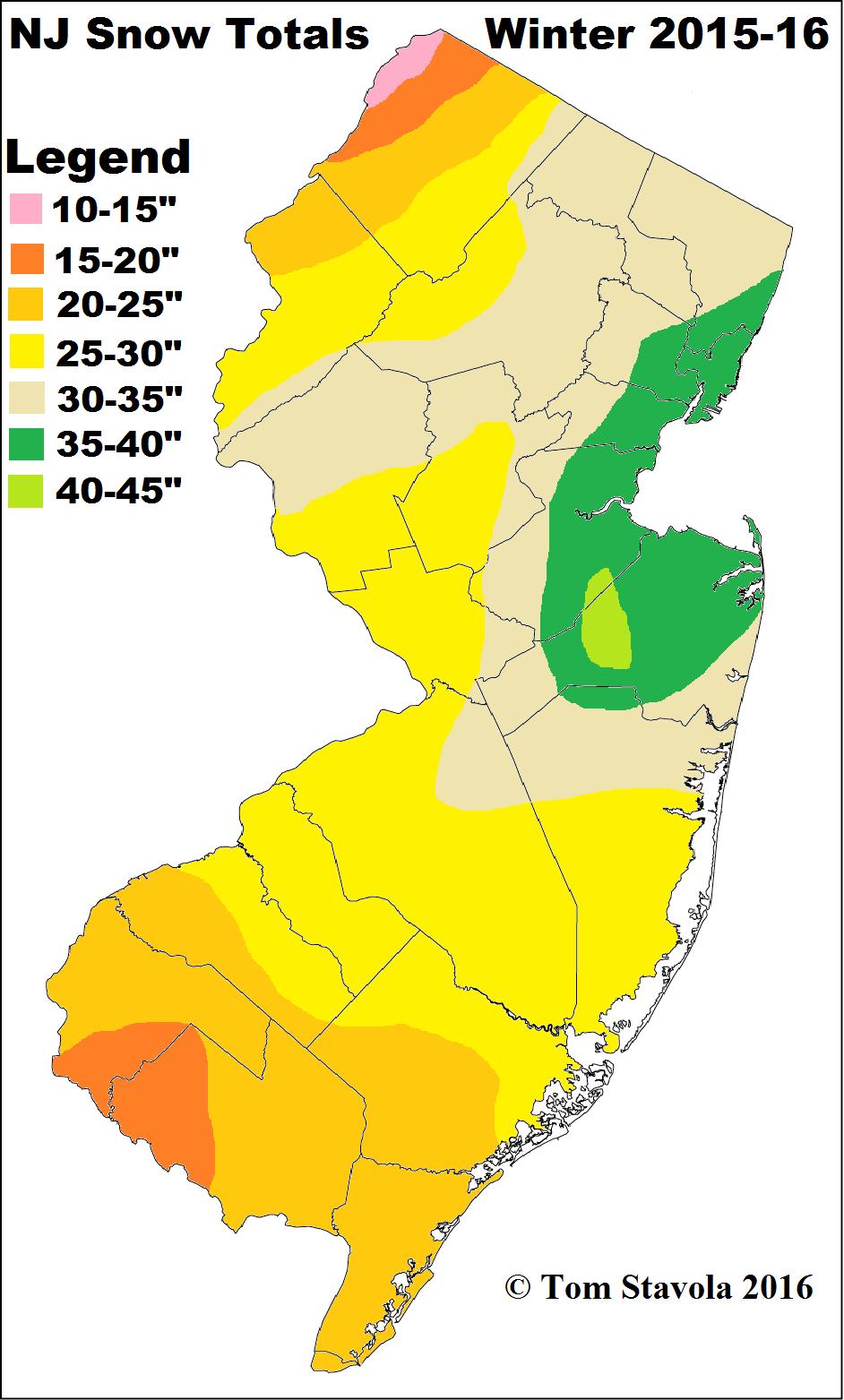 NJ Snow Totals 2015-16