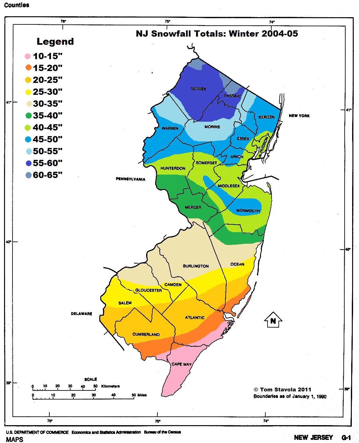 Snowfall 2004-05