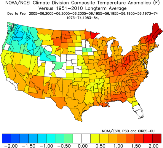 ANALOGS DJF TEMPS