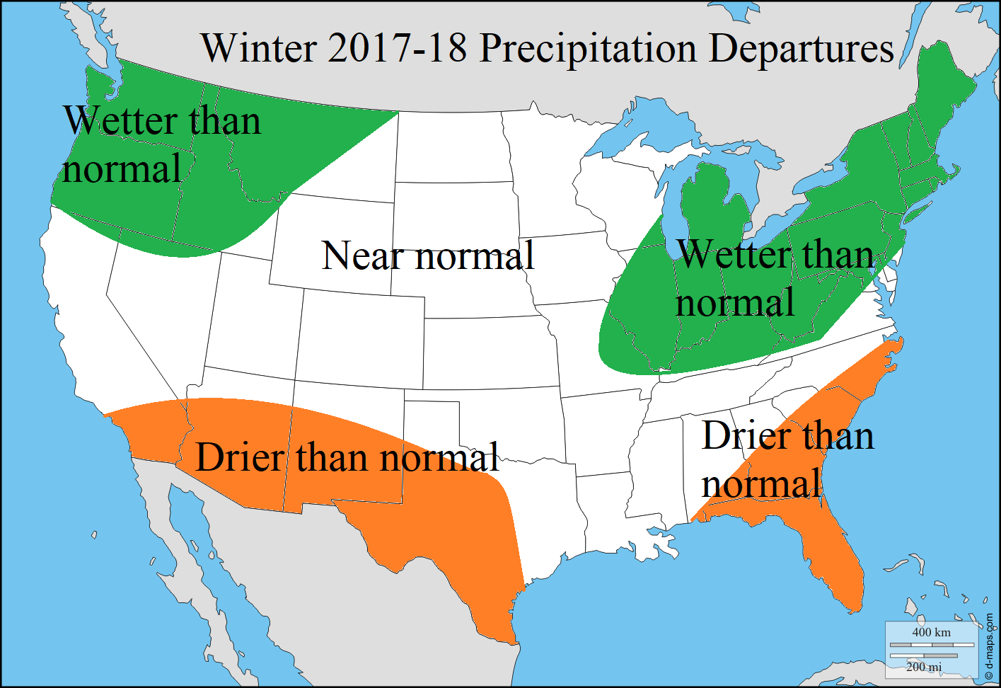 WINTER DJF PRECIP FORECAST