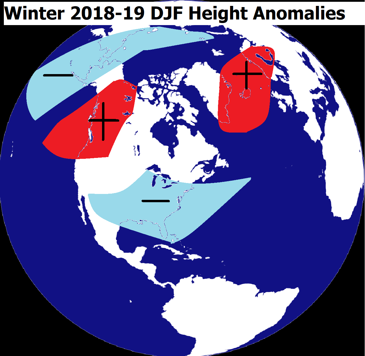 DJF HEIGHT ANOMALY FCST