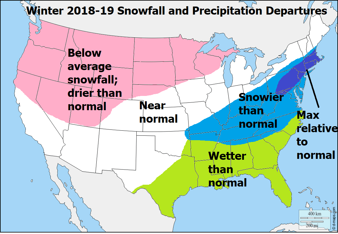 WINTER 2018 19 SNOWFALL