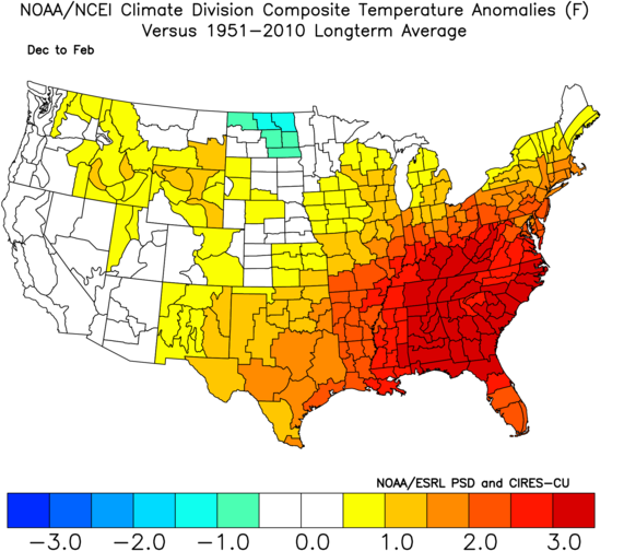 DJF TEMPS ANALOGS
