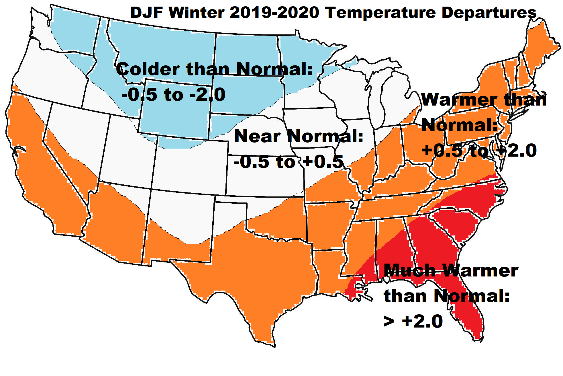 DJF WINTER TEMPS MAP